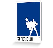 My Superhero 03 Super Blue Minimal poster Greeting Card