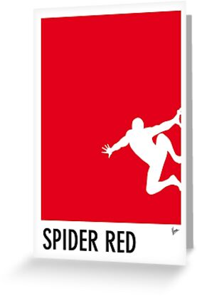 My Superhero 04 Spider Red Minimal poster by Chungkong