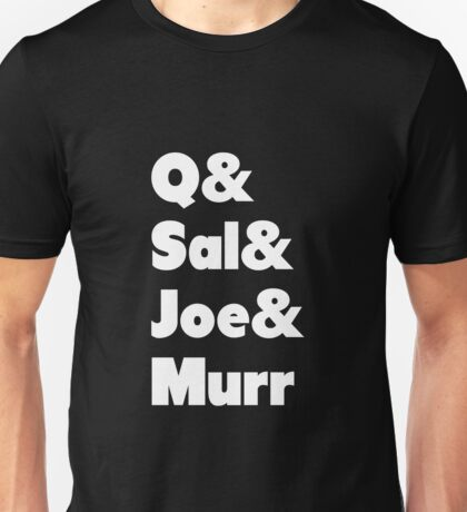 Impractical Jokers Line-Up (Font 1) (White Text) Unisex T-Shirt