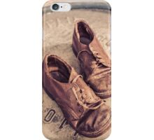 Old leather shoes iPhone Case/Skin