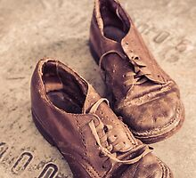 Old leather shoes by Edward Fielding