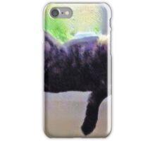 Crystal ball cat throw pillow iPhone Case/Skin