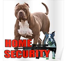 Pit bull Boston terrier security Poster