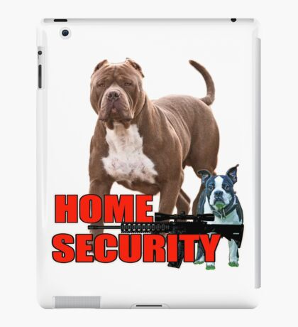 Pit bull Boston terrier security iPad Case/Skin
