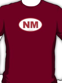 New Mexico NM Euro Oval RED T-Shirt