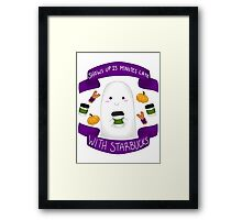 Pumpkin Spice Ghostie Framed Print