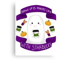 Pumpkin Spice Ghostie Canvas Print