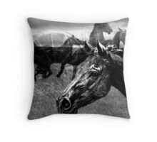 Western Montage  Throw Pillow