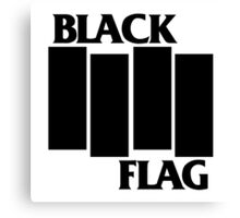 Black Flag logo Canvas Print