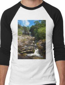 Yorkshire dales Waterfall  Men's Baseball ¾ T-Shirt