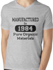 Manufactured in 1984 Mens V-Neck T-Shirt