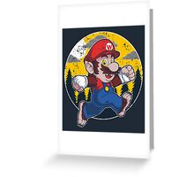 Plumber Werewolf Greeting Card
