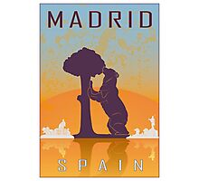 Madrid vintage poster Photographic Print