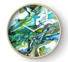 Approaching Eleven Percent From Behind  - Watercolor Painting Clock