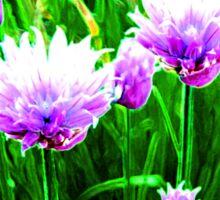 Glowing Purple Flowers in Spring Sticker