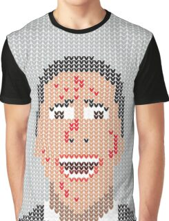 Faux-Knitted Bateman Graphic T-Shirt