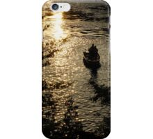 Fishing at Sunset - Thousand Islands, Saint Lawrence River iPhone Case/Skin