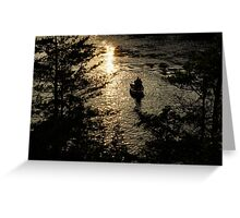 Fishing at Sunset - Thousand Islands, Saint Lawrence River Greeting Card