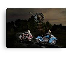 Moonlight Indian Chief Canvas Print