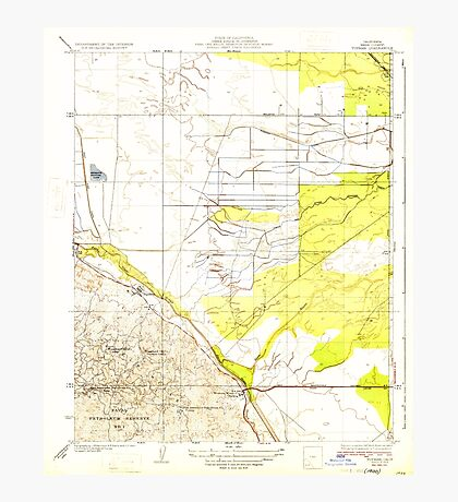 USGS TOPO Map California CA Tupman 296572 1933 31680 geo Photographic Print