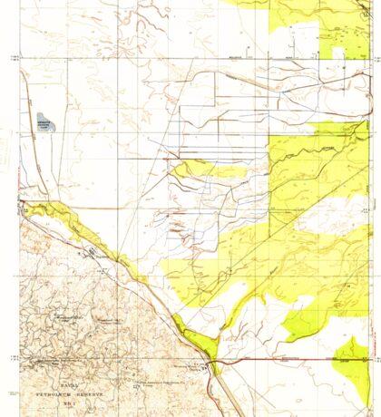 USGS TOPO Map California CA Tupman 296572 1933 31680 geo Sticker