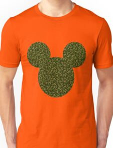 Mouse Holly Patterned Silhouette Unisex T-Shirt