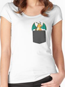 Pokemon - Dragonite in pocket Women's Fitted Scoop T-Shirt
