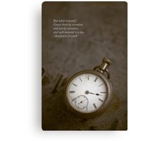 Saying about time Canvas Print