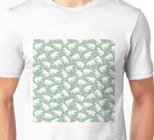 Polar Bears and Snowflakes Pattern Unisex T-Shirt