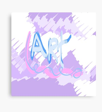 Art Typography Canvas Print