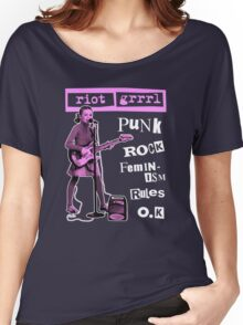 RIOT GRRRL punk rock feminism rules o.k Women's Relaxed Fit T-Shirt