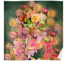 ROSES BOUNTIFUL SO SHABBY CHIC Poster