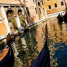 Venetian Impressions - Gondolas and Reflections by Georgia Mizuleva