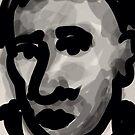 Male Head -(031014)- Digital artwork/Zen Brush by paulramnora