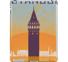 Istanbul vintage poster iPad Case/Skin
