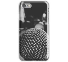 Behind The Mic iPhone Case/Skin