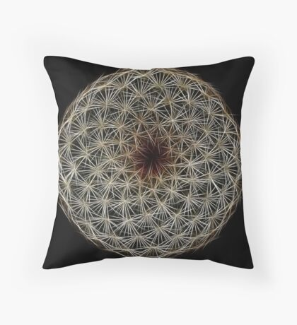 Fibonacci's Fractal Spiral Symmetry Throw Pillow