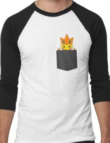 Pokemon - Pikachu with Charizard cosplay in pocket Men's Baseball ¾ T-Shirt