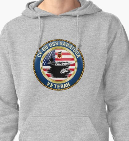 CV-60 USS Saratoga  Pullover Hoodie