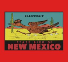 New Mexico Roadrunner State Bird Vintage Travel Decal  One Piece - Short Sleeve