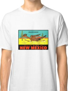 New Mexico Roadrunner State Bird Vintage Travel Decal  Classic T-Shirt
