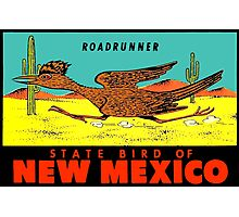 New Mexico Roadrunner State Bird Vintage Travel Decal  Photographic Print