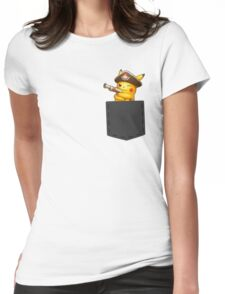 Pokemon - Pikachu with pirate cosplay in pocke Womens Fitted T-Shirt
