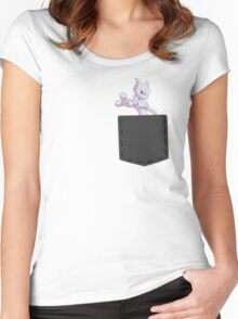 Pokemon - Mewtwo in pocket Women's Fitted Scoop T-Shirt