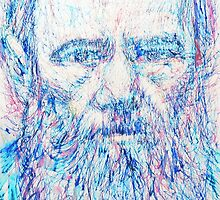 Fyodor Dostoyevsky / colored pens portrait by lautir