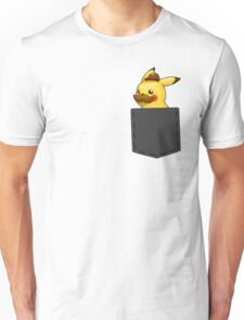 Pokemon - Pikachu with mustache in pocket Unisex T-Shirt