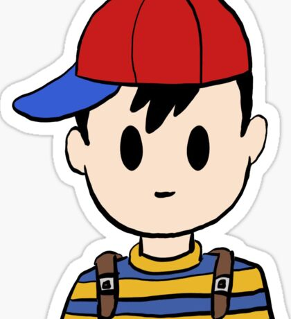 Ness from Nintendo's Earthbound! Sticker