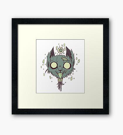 The Cat Demon Framed Print