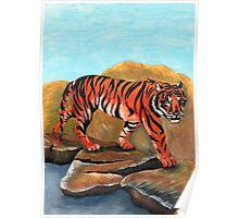 tiger painting Poster