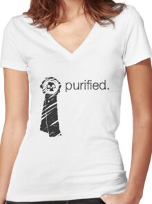 Purity Seal (Light Background) Women's Fitted V-Neck T-Shirt